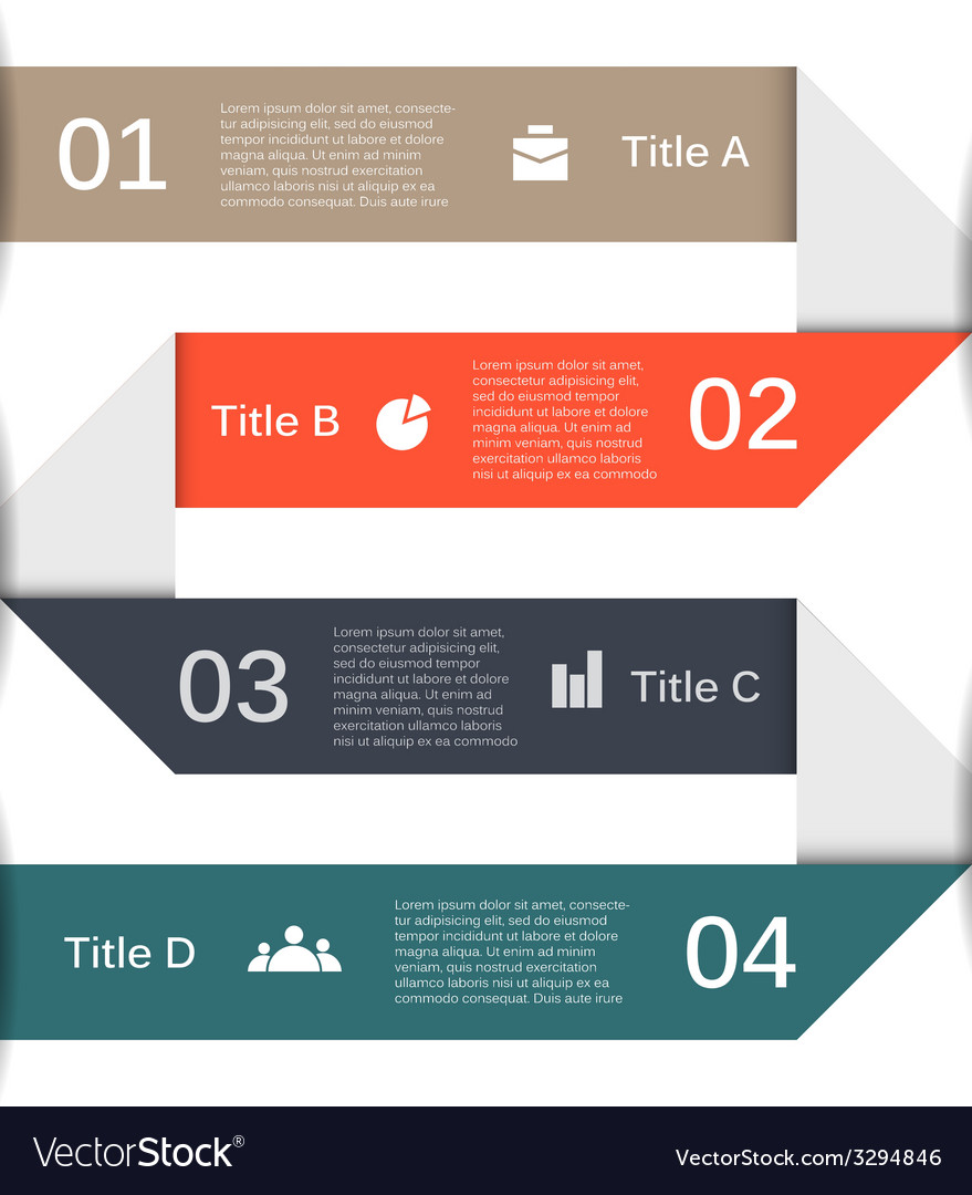 Infographic diagram presentation 4 options vector