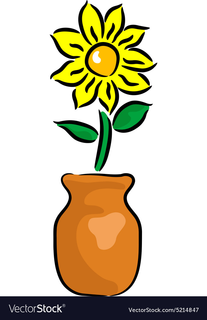 Flower in the vase vector
