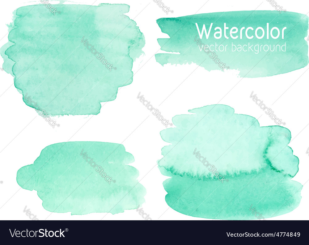Set of abstract watercolor background vector