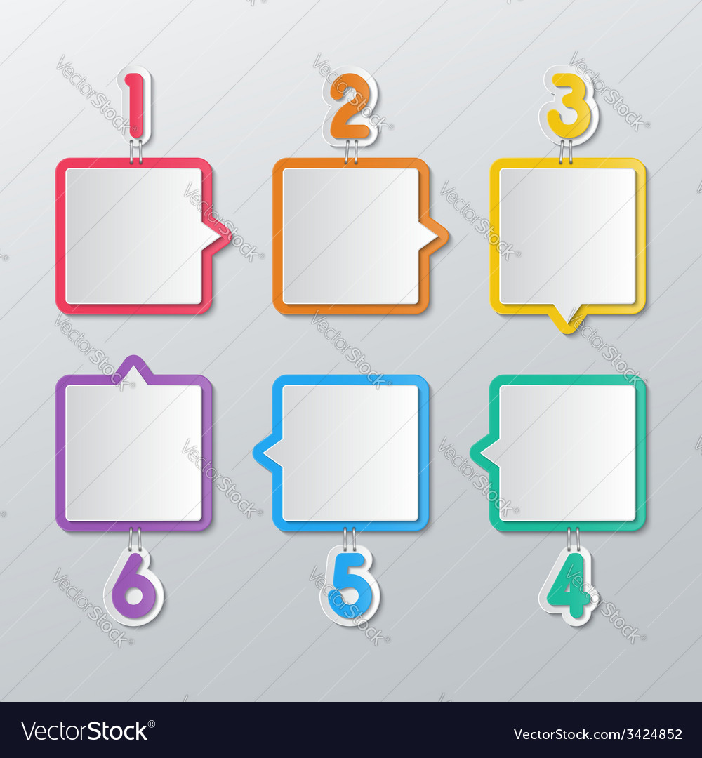 Paper speech bubbles infographics vector