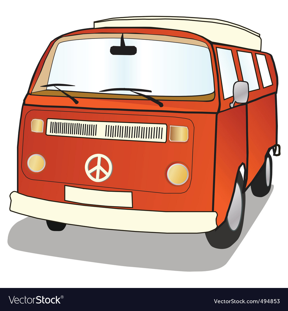Campervan vector