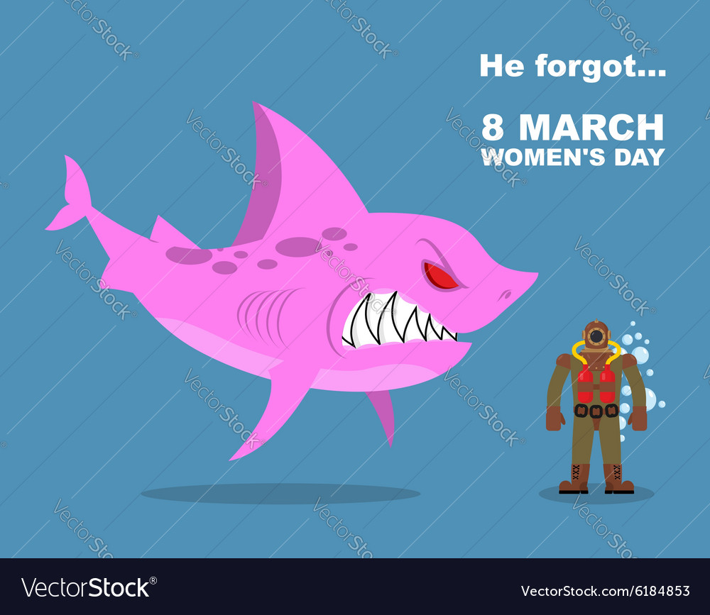 He forgot about 8 march international womens day vector