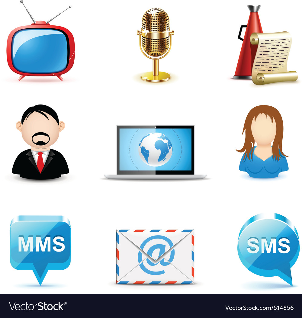 Communication icons bella vector