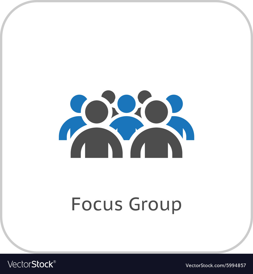Focus groupe icon business concept flat design vector