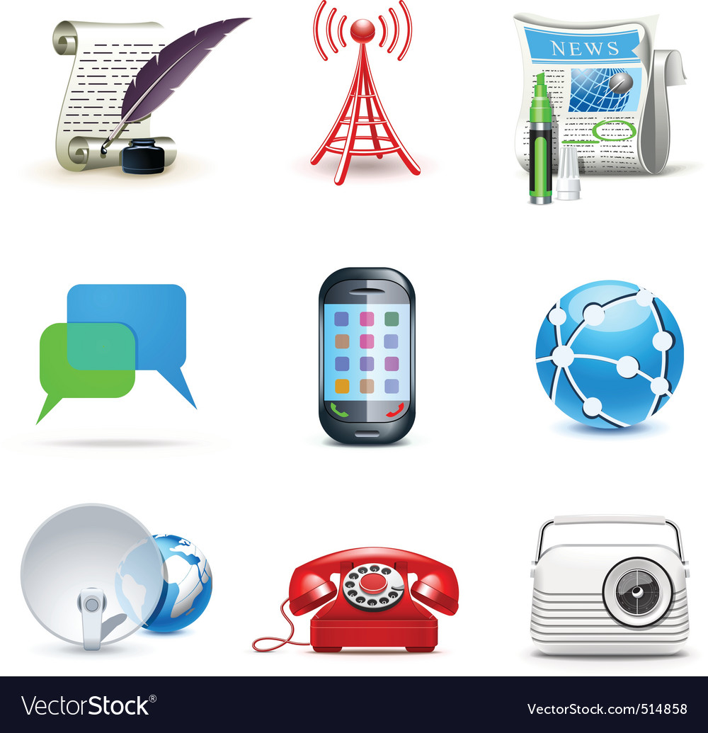Communicatio icons  bella 2 vector