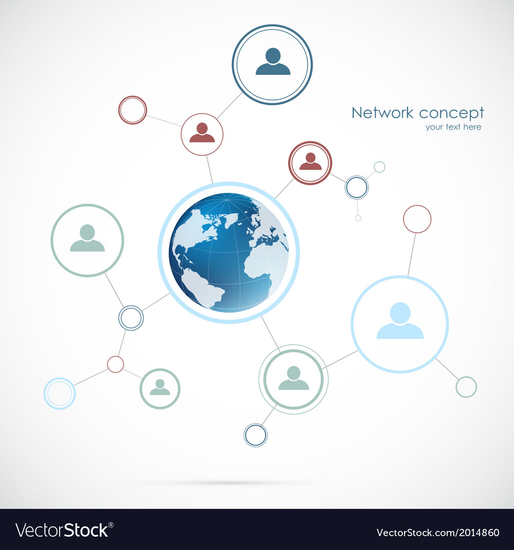 Network background with globe vector