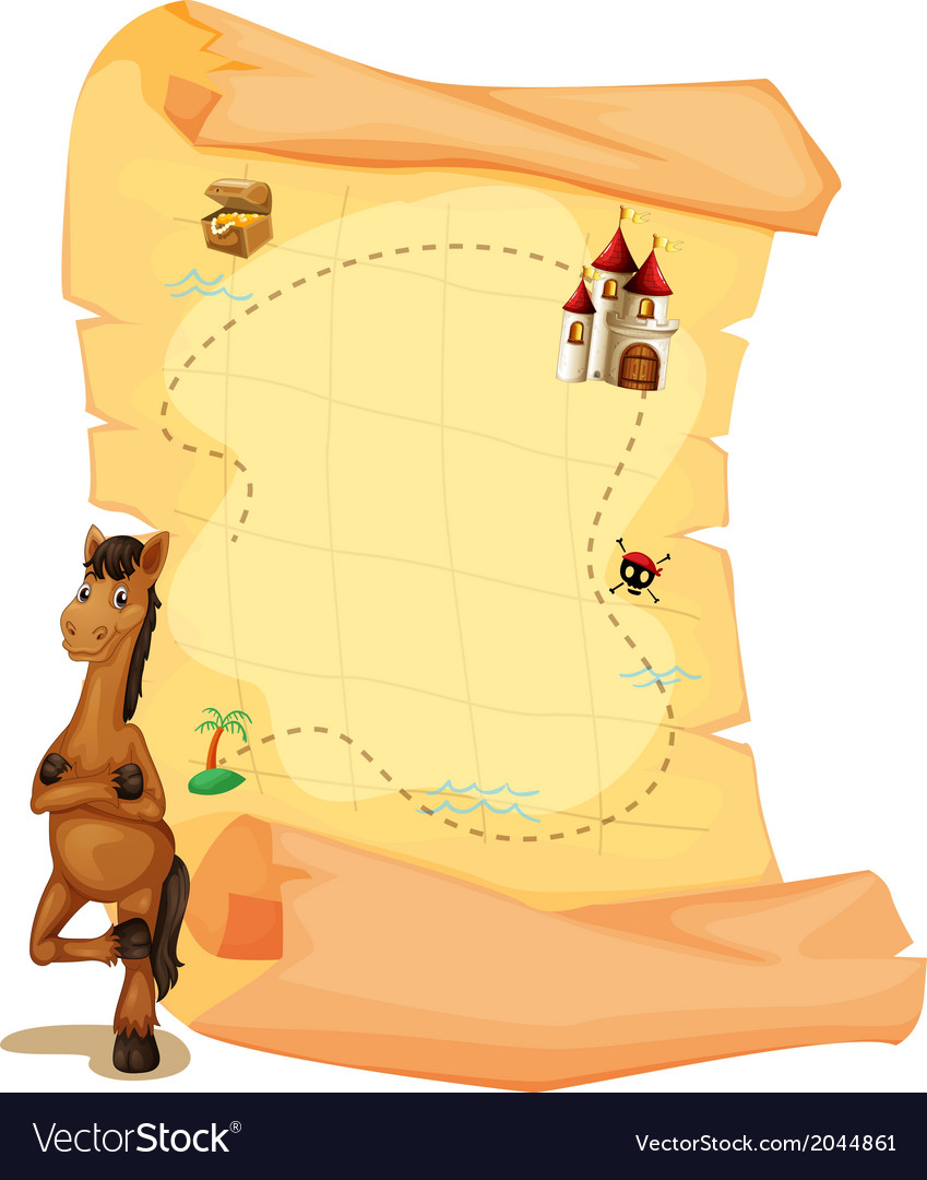 A map with a horse vector
