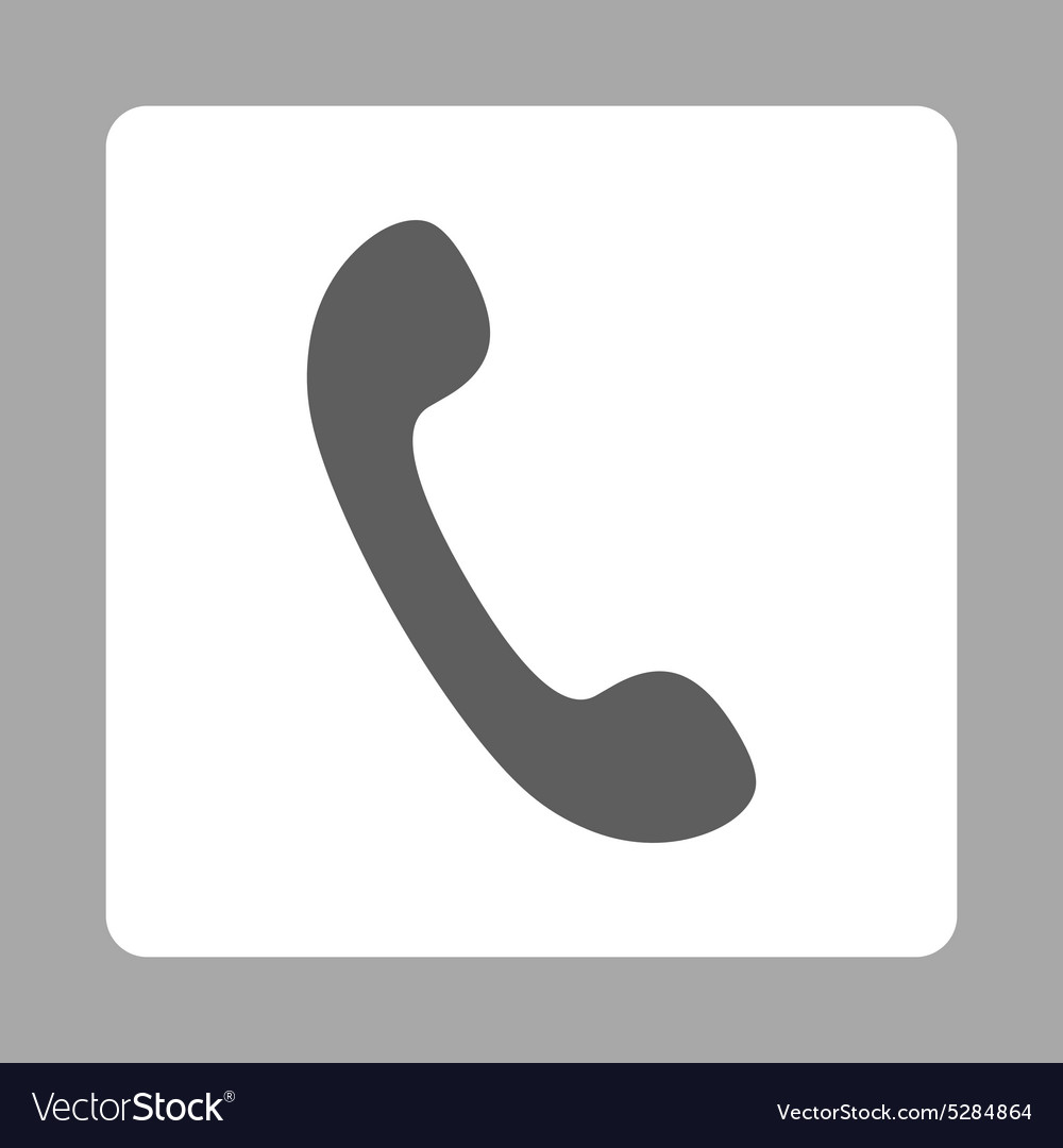 Phone flat dark gray and white colors rounded vector