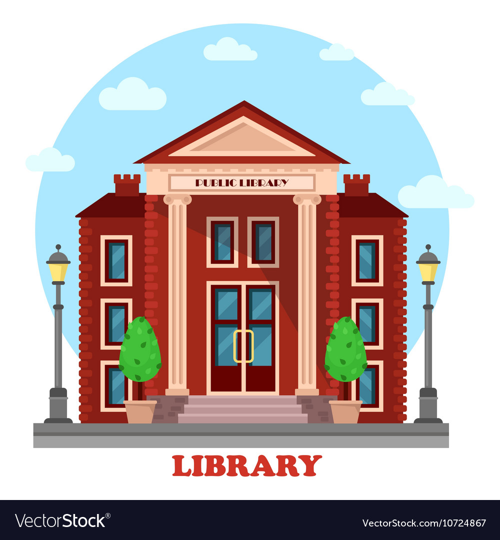 Public lending or academic national library vector