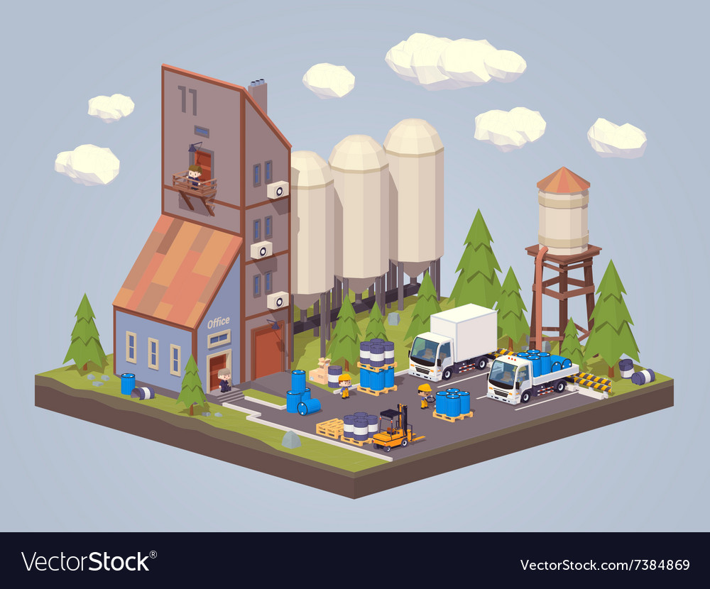 Silo plant storage of liquids vector