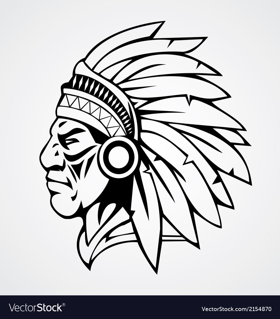 Indian head mascot vector