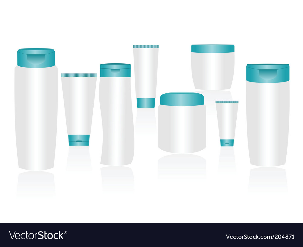 Cosmetic container vector