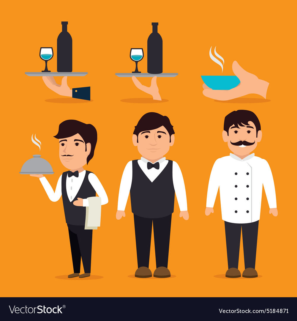 Restaurant design vector