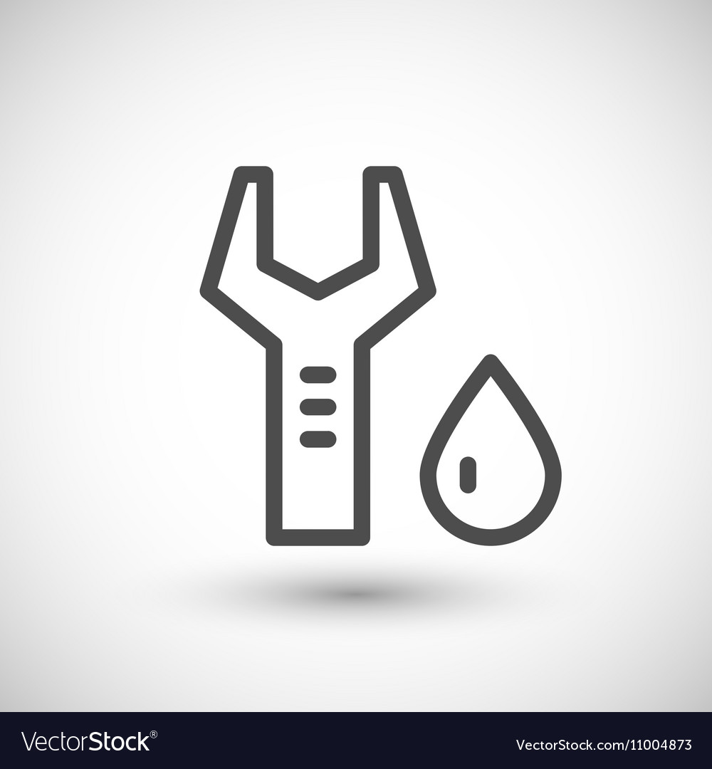 Plumbing maintenance line icon vector