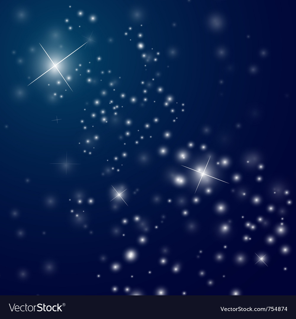 Abstract starry night sky vector