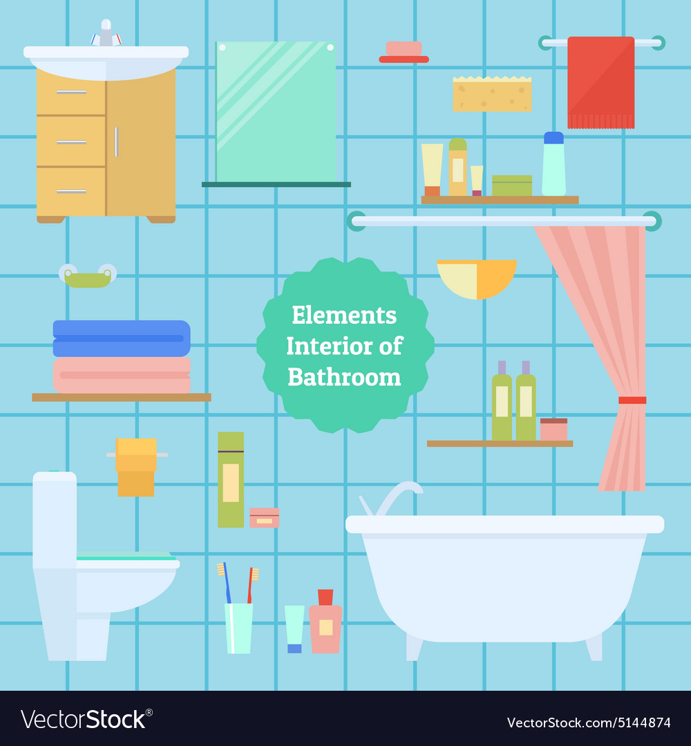 Element of the interior bathroom vector