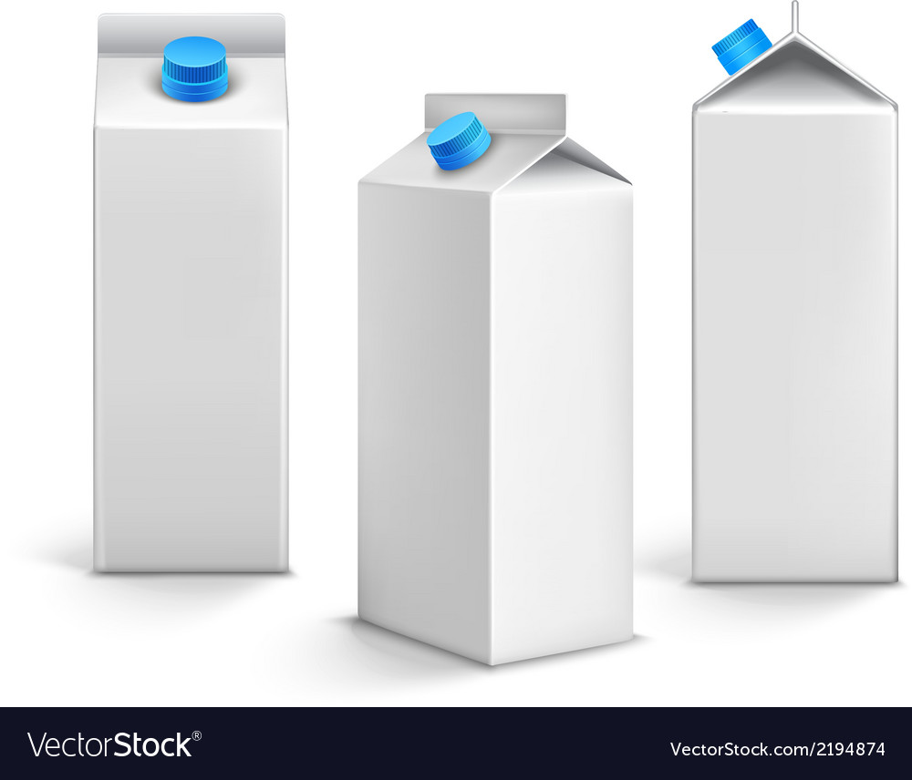 Juice packages 3d vector