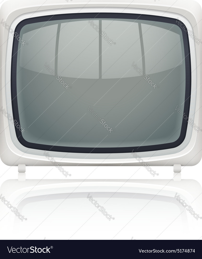 Retro display monitor vector