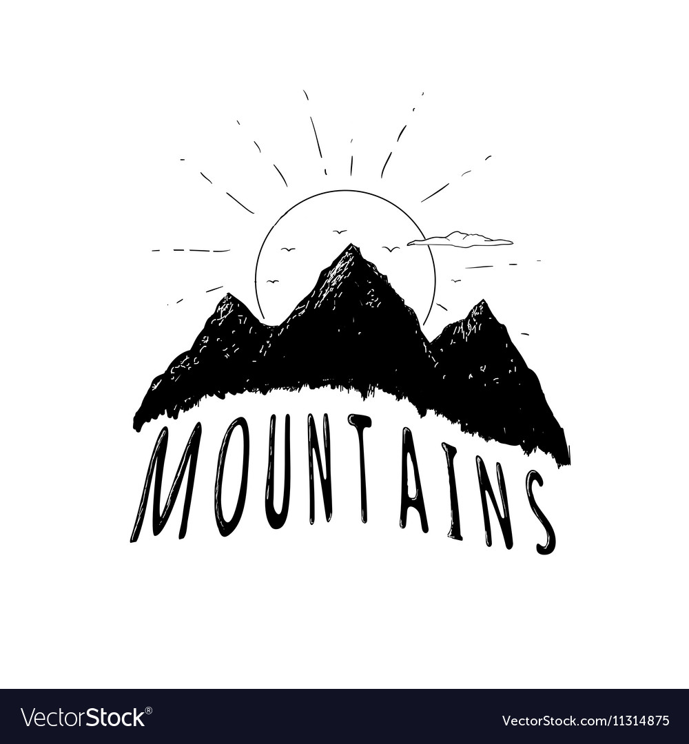 Graphic mountains vector