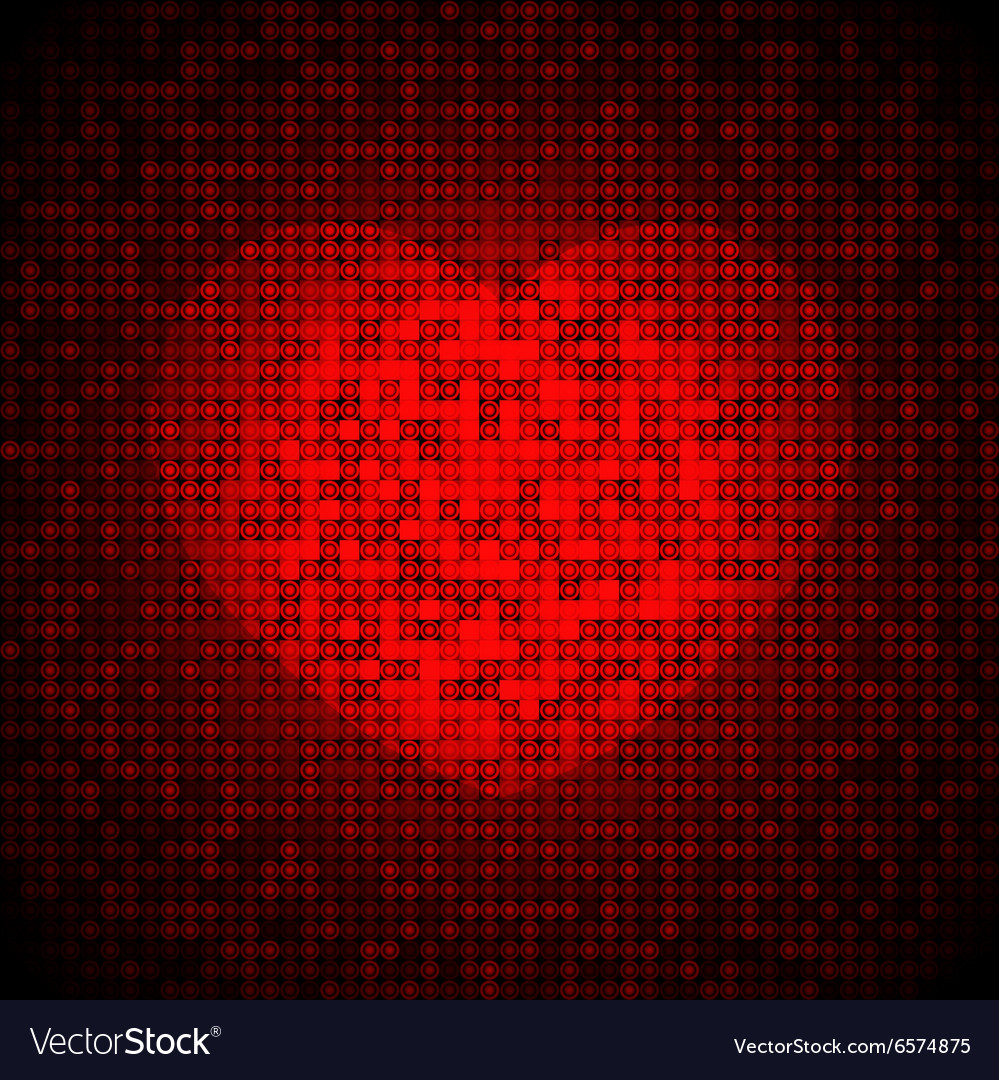 Techno heart background vector