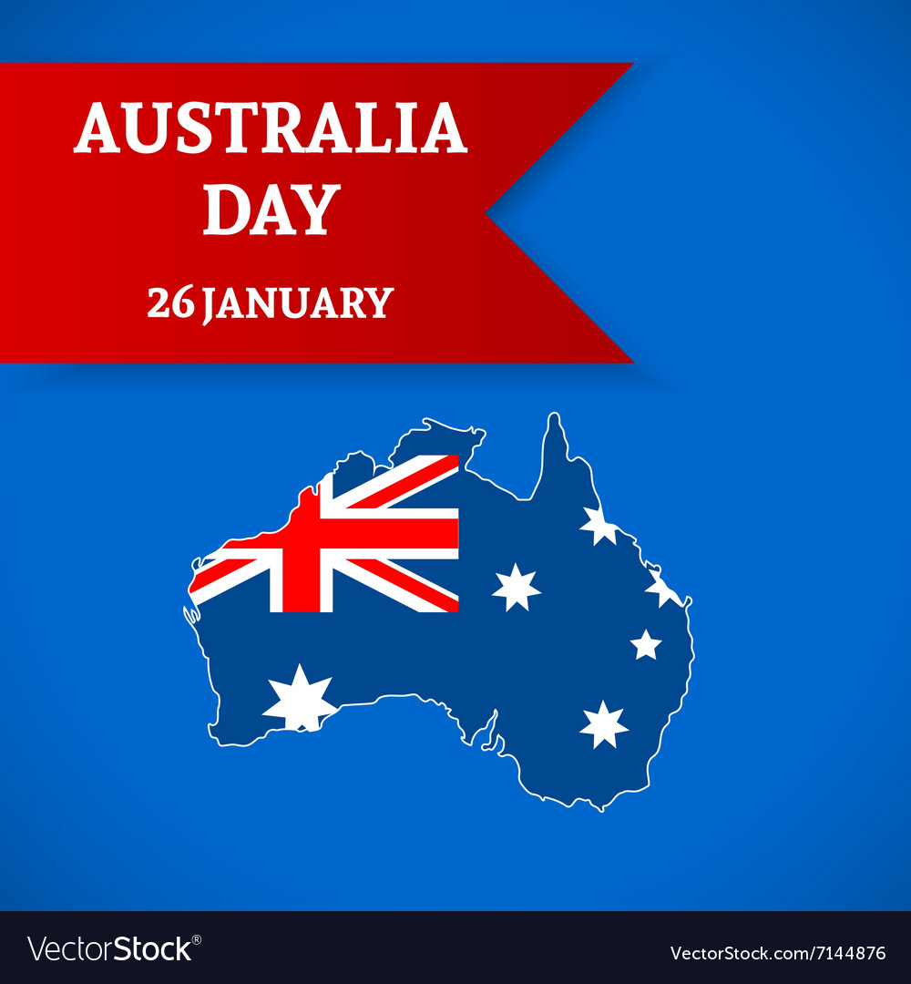 Australia day background vector