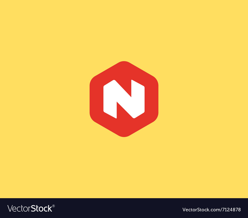 Abstract letter n logo design template colorful vector