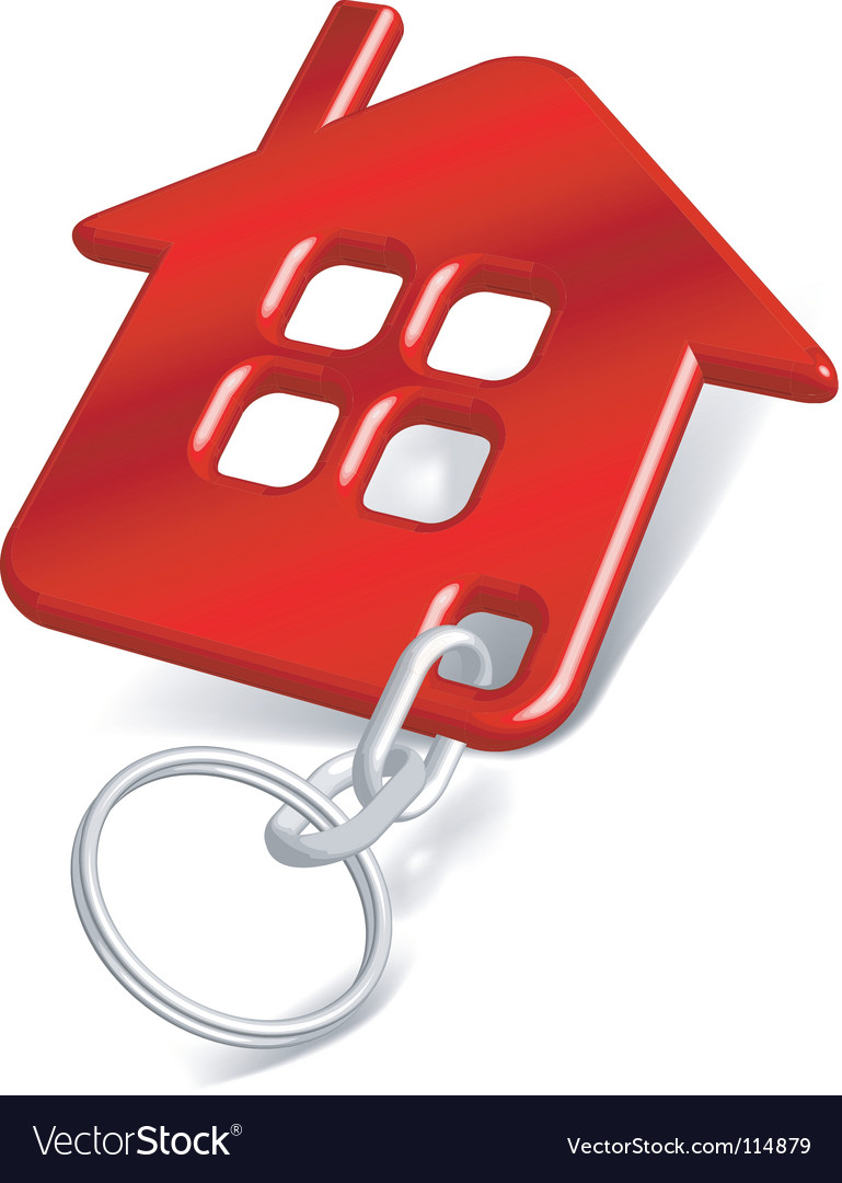 House keychain vector