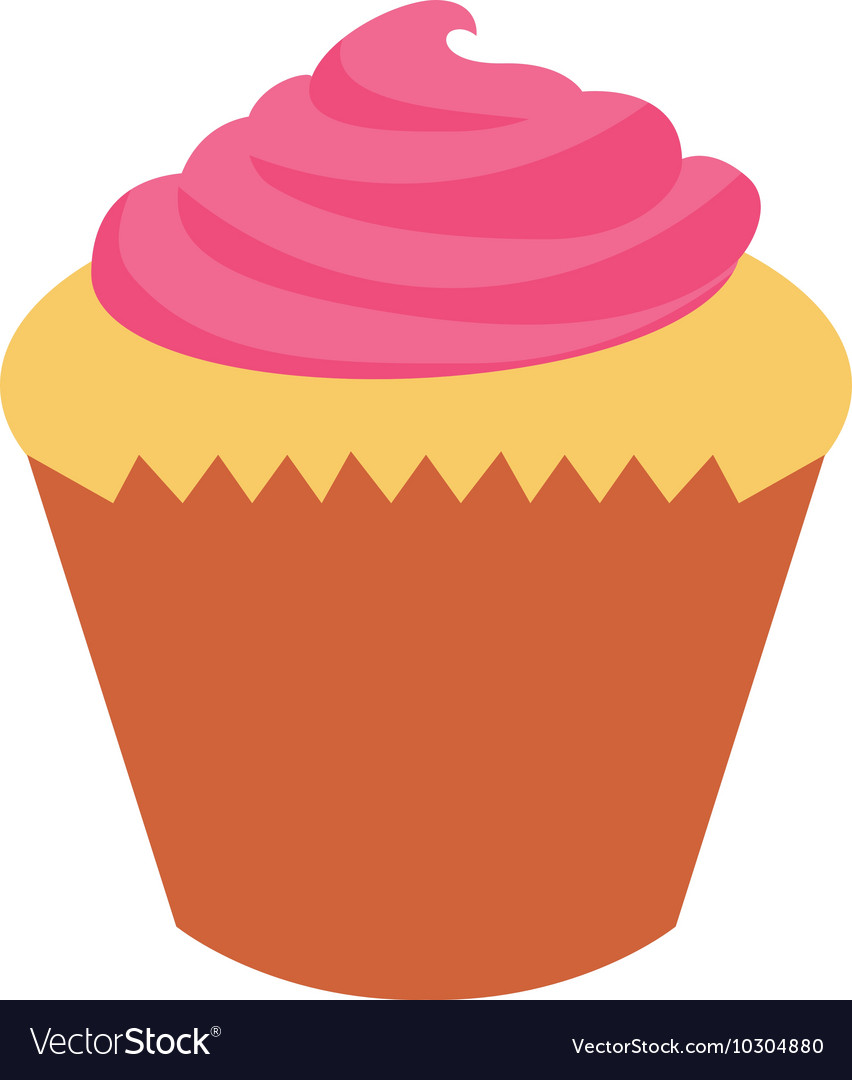 Delicious cupcake sweet isolated icon vector