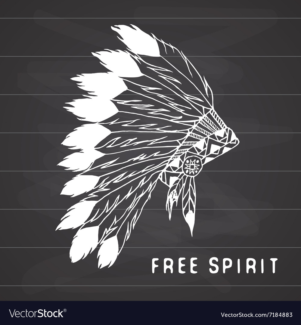 Tribal legend in indian style native american vector
