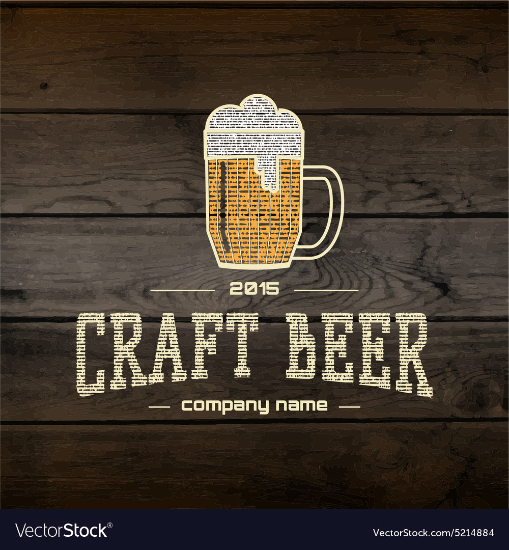 Craft beer badges logos and labels for any use vector