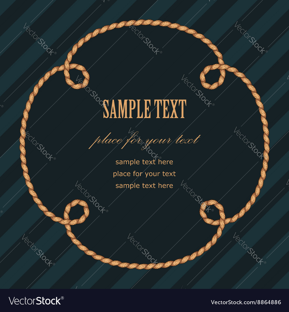 Frame rope flower vector