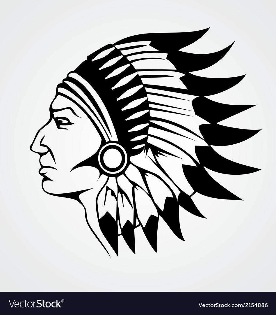 Indian head vector