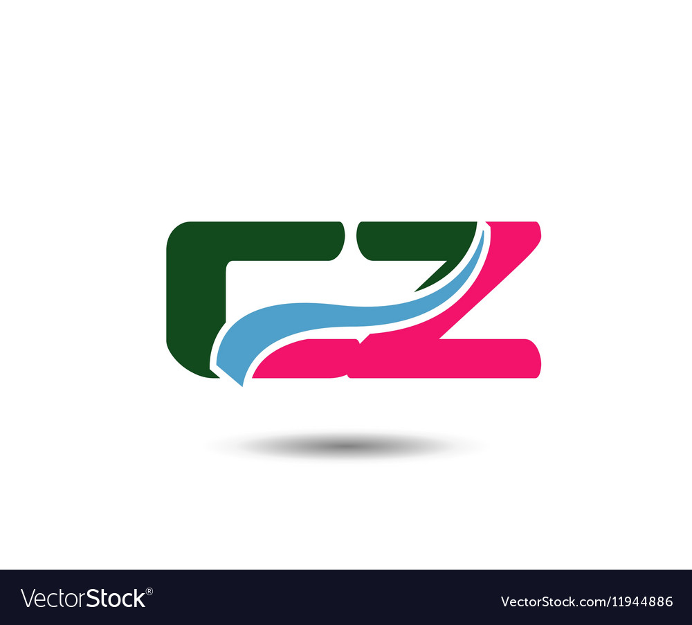 Letter c and z logo vector