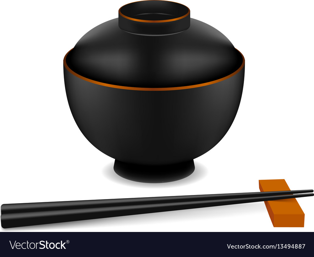 Japanese empty dish vector