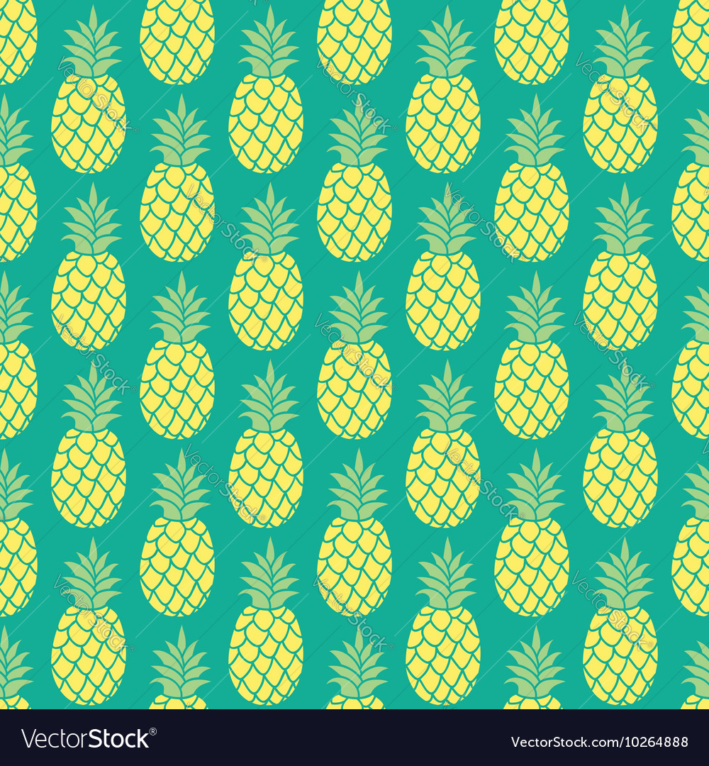 Pineapple background pineapple seamless pattern vector