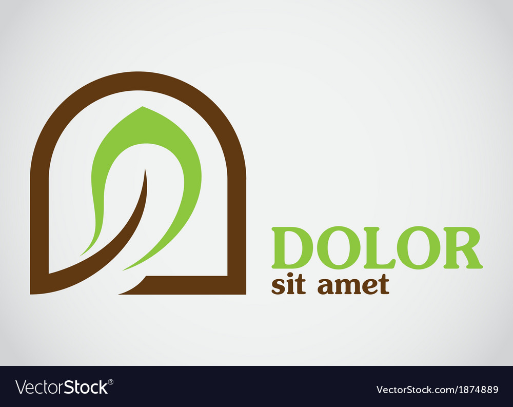 Eco leaf abstract design template icon vector