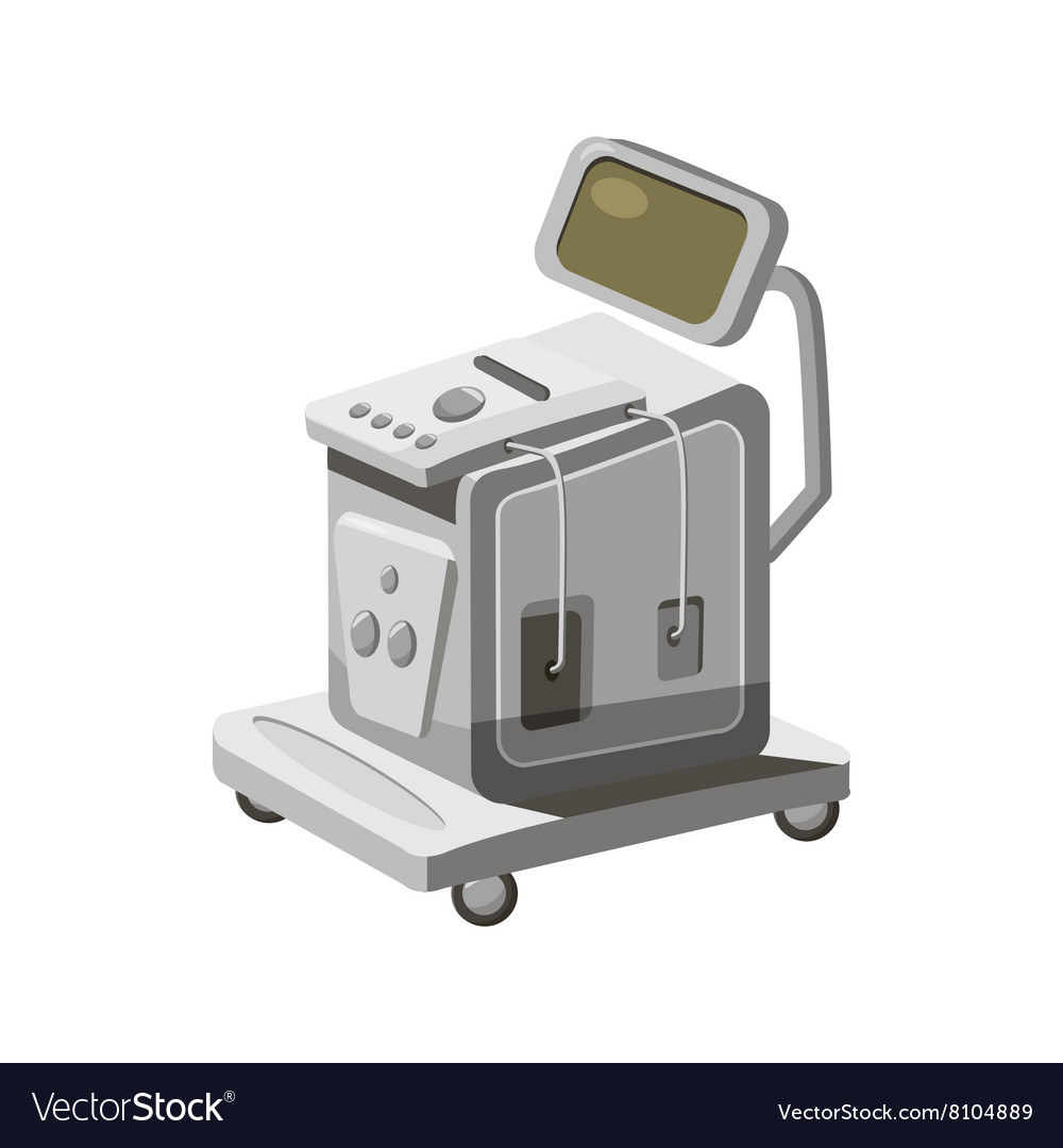 Ultrasonic scanner for medical examination icon vector