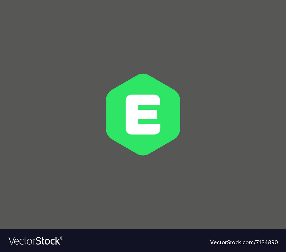 Abstract letter e logo design template colorful vector