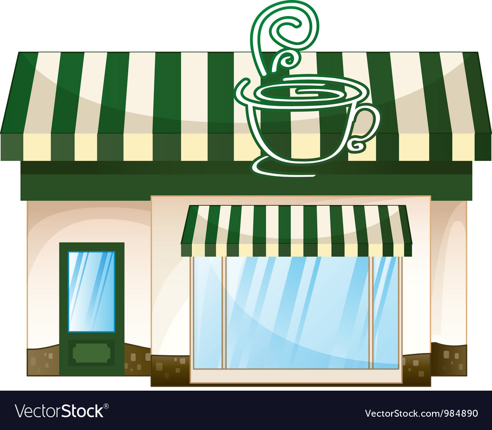 Cafe coffee house vector