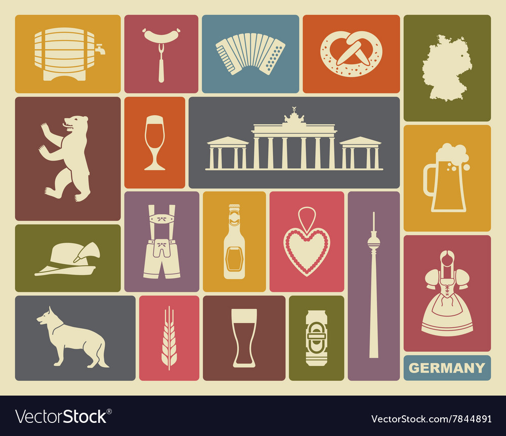 Icons of germany vector