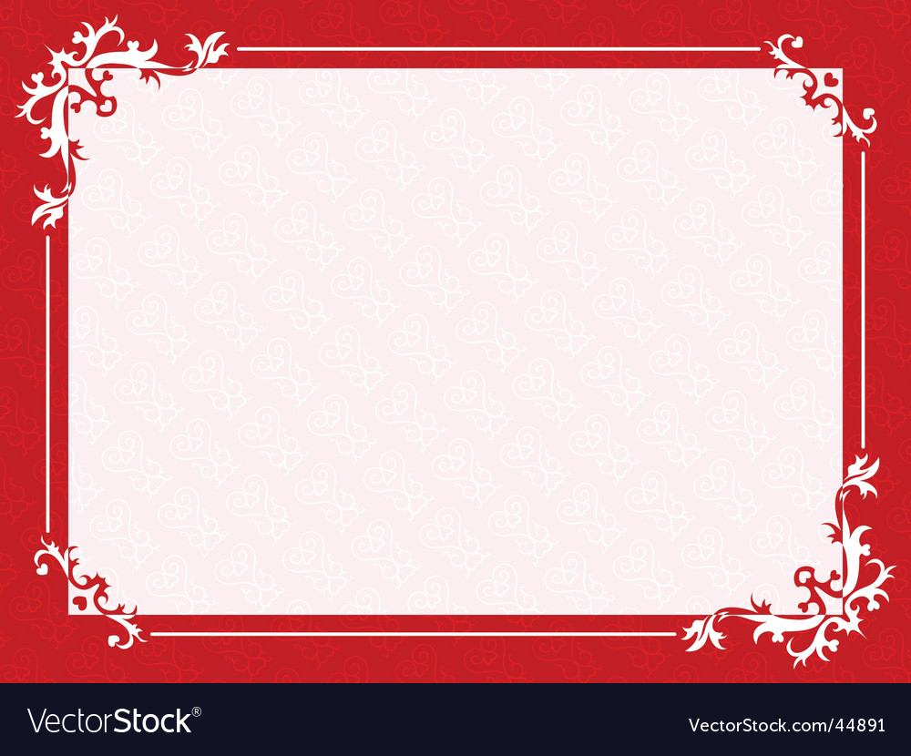 Valentines frame vector