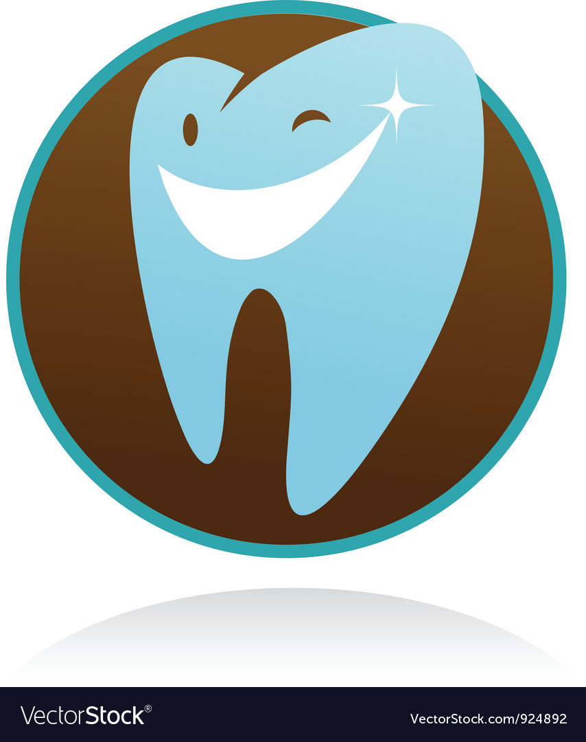 Dental clinic icon  smile tooth vector