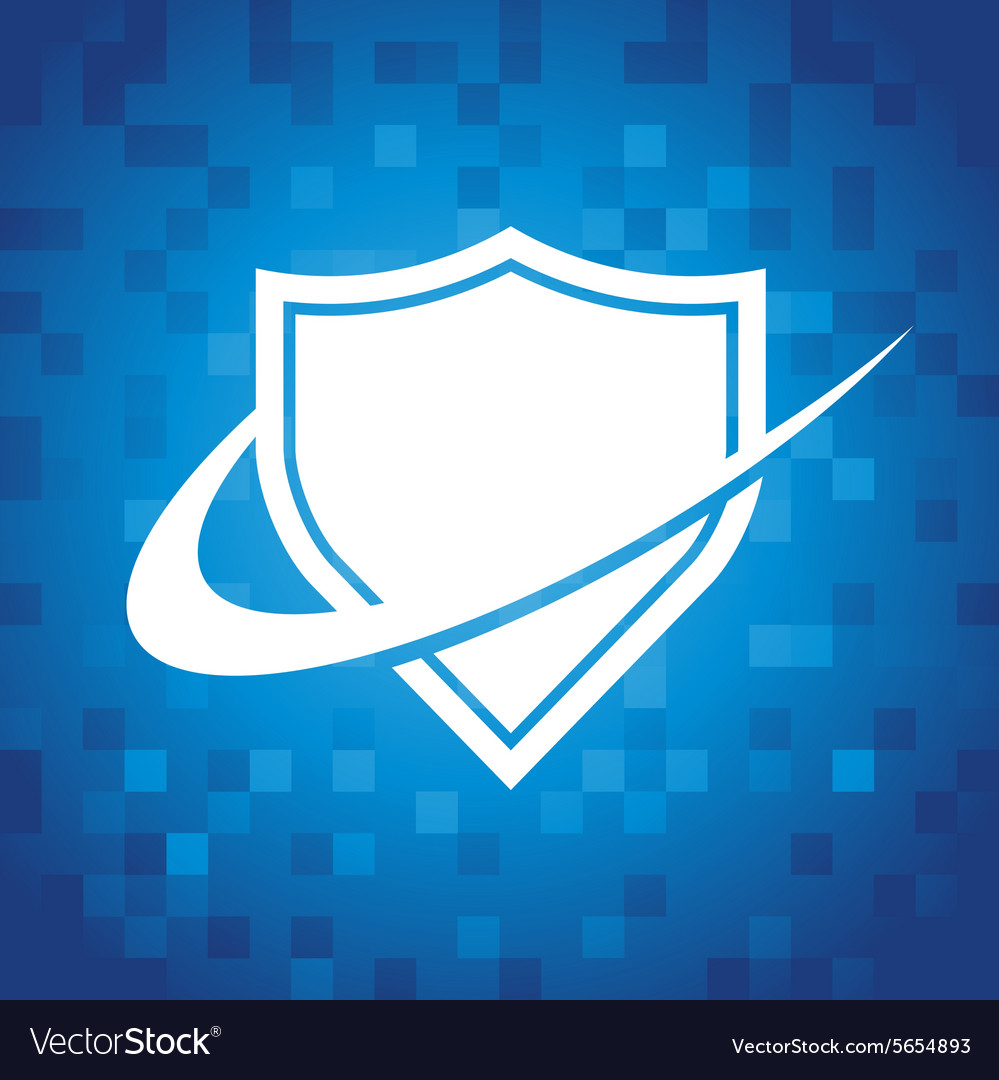 Swoosh shield icon vector