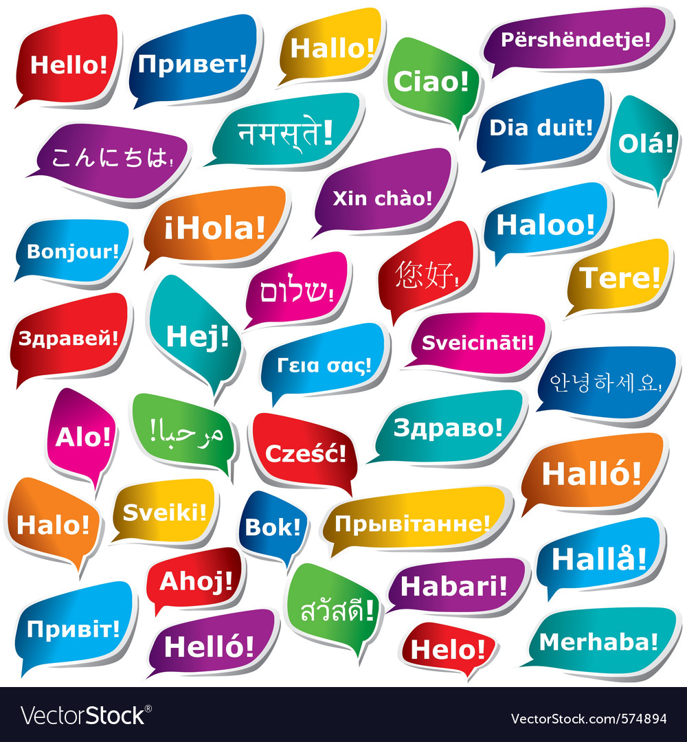 38 ways to say hello vector