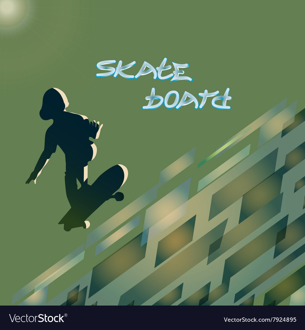 Skate board club vector