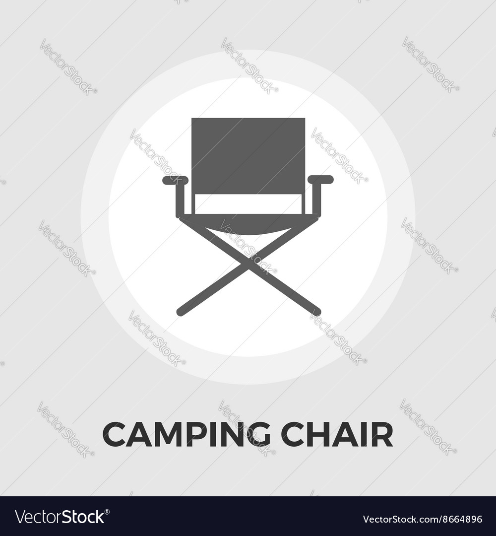 Camping chair flat icon vector