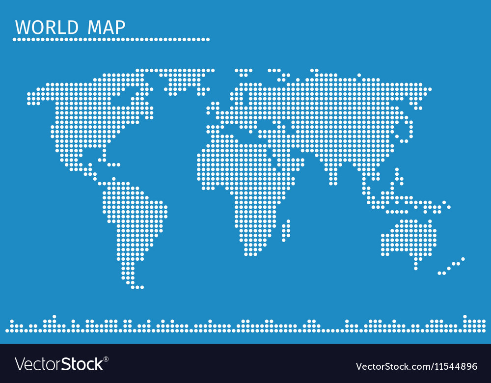 Earth globe world map of dots vector