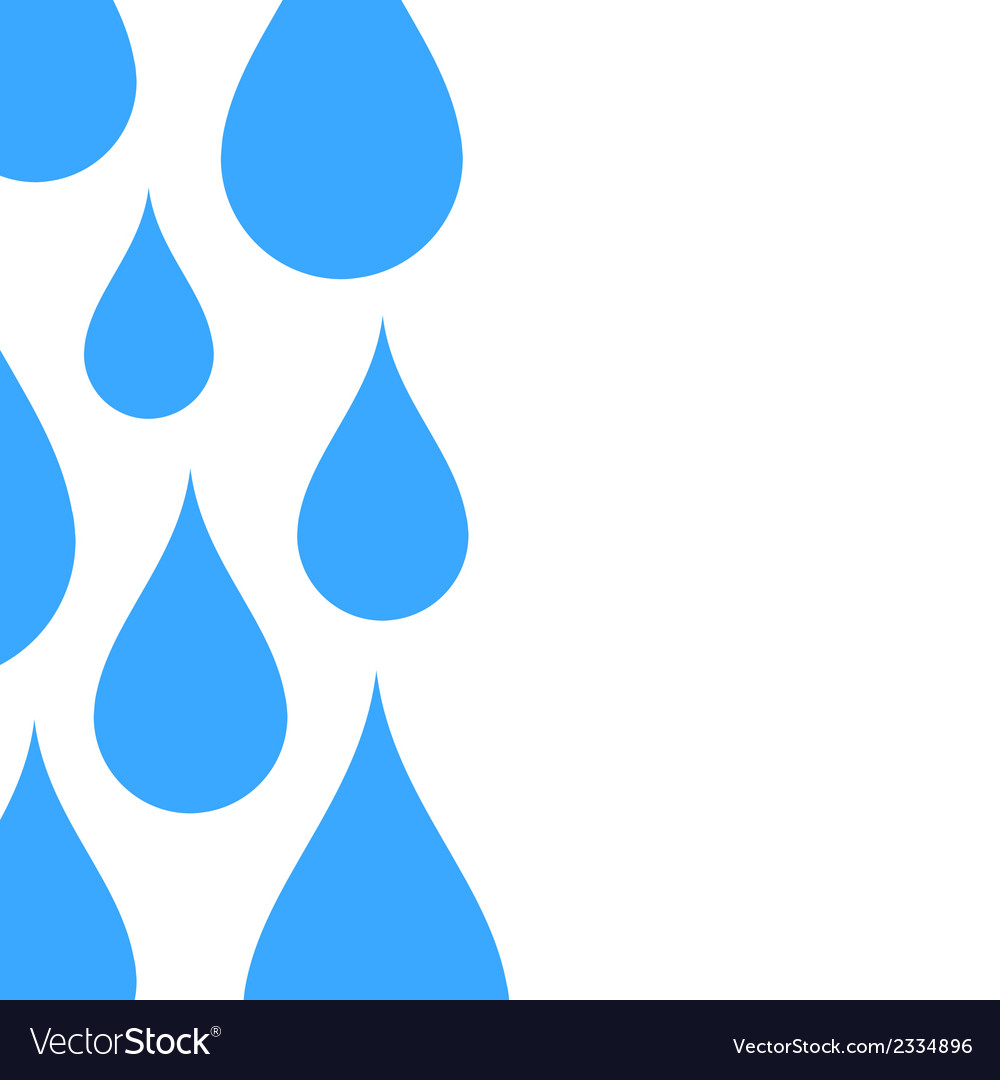 Water drop abstract background vector