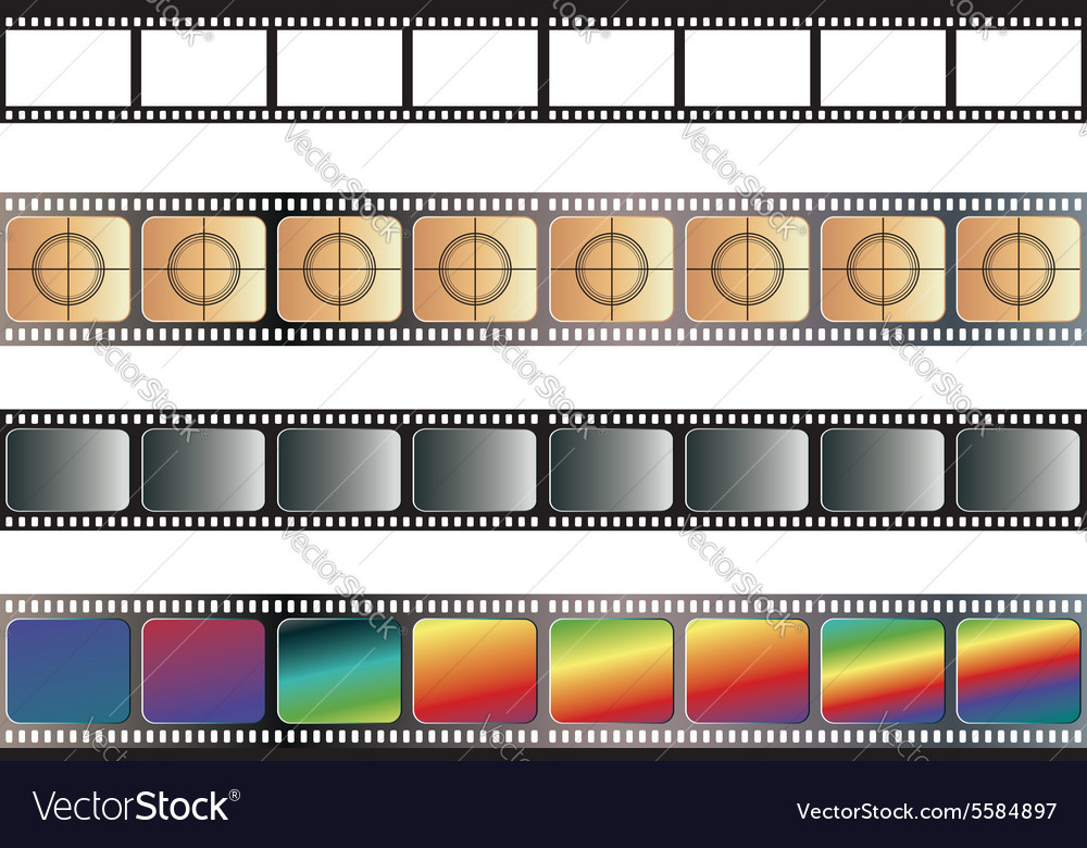 Old film tape vector