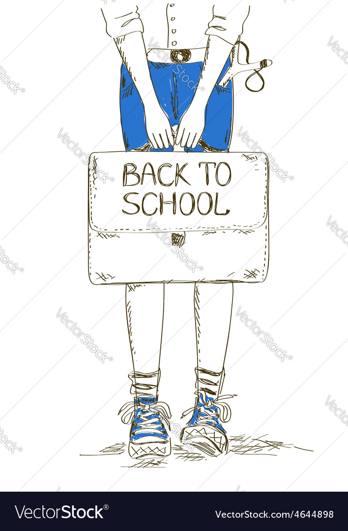Back to school with boy vector
